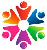 Teamwork people handle logo Stock Photography