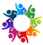 Teamwork people hands up logo Stock Photography