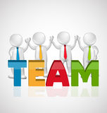Teamwork people holding hands Stock Photo