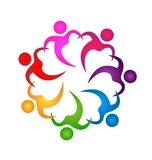 Teamwork people holding hands icon vector. Design illustration Royalty Free Stock Image
