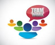 Teamwork people illustration design Stock Photos