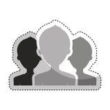 teamwork people silhouette icon Royalty Free Stock Photos