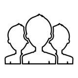 teamwork people silhouette icon Stock Photos
