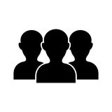 Teamwork people silhouette. Icon  illustration graphic design Stock Images