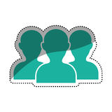 Teamwork people silhouette Royalty Free Stock Photography