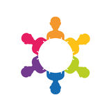 Teamwork people silhouette. Icon  illustration graphic design Royalty Free Stock Images