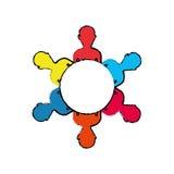 Teamwork people silhouette. Icon  illustration graphic design Royalty Free Stock Photo