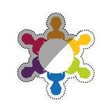 Teamwork people silhouette. Icon  illustration graphic design Stock Image