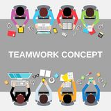 Teamwork people top view Stock Images