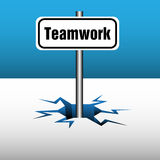 Teamwork plate Stock Photos