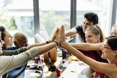 Teamwork Power Successful Meeting Workplace Concept. Teamwork Power Successful Meeting Workplace Royalty Free Stock Images
