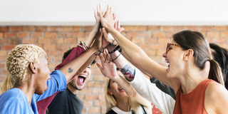 Teamwork Power Successful Meeting Workplace Concept Stock Images
