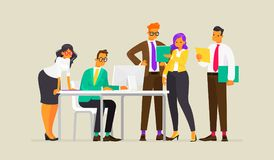 teamwork Processo di lavoro della gente di affari Illustrazione di vettore illustrazione vettoriale