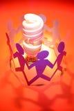 teamwork produces great idea Stock Image