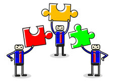 Teamwork puzzle Royalty Free Stock Image