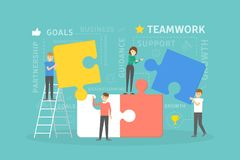 Teamwork puzzle building. Stock Photography