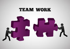 Teamwork and puzzle design Royalty Free Stock Image