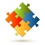 Teamwork Puzzle Royalty Free Stock Photos
