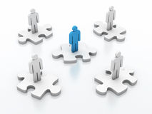 Teamwork puzzle Stock Image