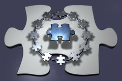 Teamwork - Puzzle - Ring Royalty Free Stock Photography
