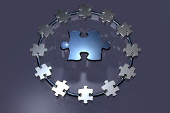 Teamwork - Puzzle - Ring Stock Images