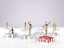 Teamwork. Puzzle. Puzzle. Teamwork. Step to work. High resolution 3d render Royalty Free Stock Photo