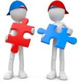Teamwork-Puzzlespiel Stockbild