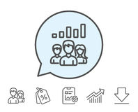 Teamwork results line icon. Group of people. Royalty Free Stock Photography