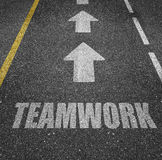 Teamwork road markings Royalty Free Stock Photos