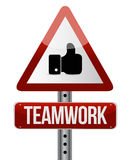 teamwork road sign illustration design Stock Photography