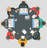 Teamwork for roundtable. Business strategy of success Stock Image