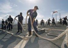 Teamwork Sailors Ship Stock Photography