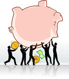 Teamwork Savings Withdrawal Stock Photos