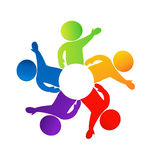 Teamwork saying hi logo Stock Photography