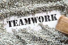 Teamwork -- Schatzwort-Reihe Stockbild