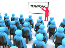 Teamwork seminar stock illustration