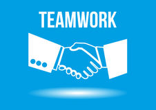 Teamwork shaking hands design concept Royalty Free Stock Images