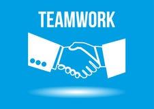 Teamwork shaking hands design concept royalty free illustration
