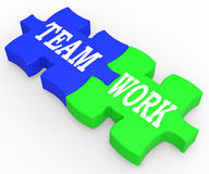 Teamwork Shows Combined Effort And Cooperation Royalty Free Stock Photo