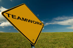 A Teamwork Sign. An Inspirational Image, for business and teambuilding Stock Photo