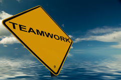 A Teamwork Sign. An Inspirational Image, for business and teambuilding Royalty Free Stock Photos