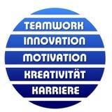Teamwork sign Stock Image