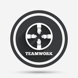 Teamwork sign icon. Helping Hands. Royalty Free Stock Photo