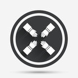 Teamwork sign icon. Helping Hands. Stock Images