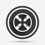 Teamwork sign icon. Helping Hands. Royalty Free Stock Images