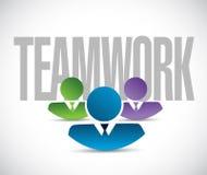 Teamwork sign illustration design graphic Royalty Free Stock Photo