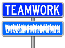 Teamwork sign Stock Photography