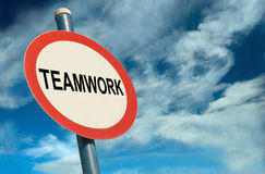 Teamwork Signage Stock Images