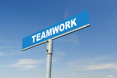 Teamwork signpost Stock Photos