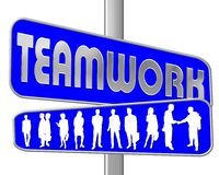 Teamwork Signpost Royalty Free Stock Images